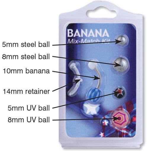 Mix & Match Banana Piercing 12 Pack