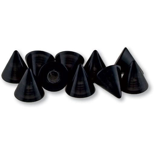 Black Plastic Spike 3mm - 16 gauge (20pk)