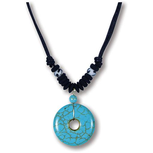 Turquoise Doughnut Necklace - 10 Pack