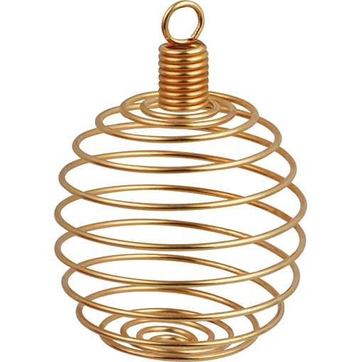 Spiral Stone Cage Pendant