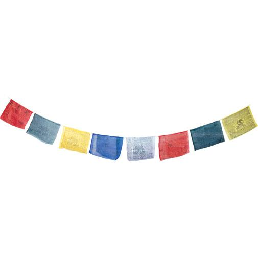 Tibetan Prayer Flags 10cm x 10cm (5 Pack)
